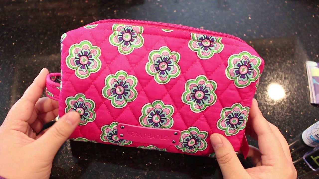 Vera Bradley Medium Cosmetic Bag Review Pink Swirl Flowers 2017