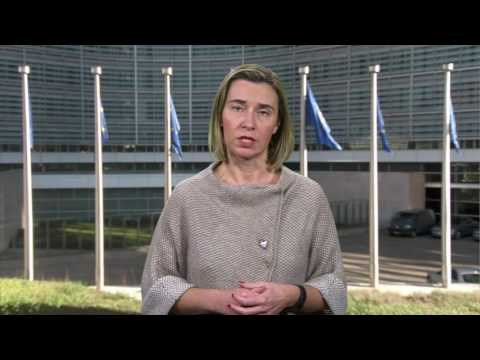 High Represenative Mogherini presents EU Security and Defence package
