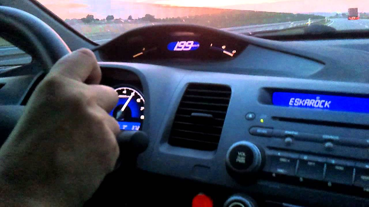 Honda Civic 1 8 Ivtec Test 208 Km Youtube
