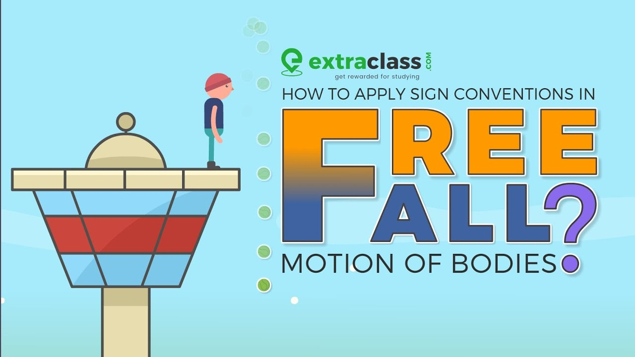 Sign Convention in free fall motion of bodies | Extraclass.com #gravity  #physics