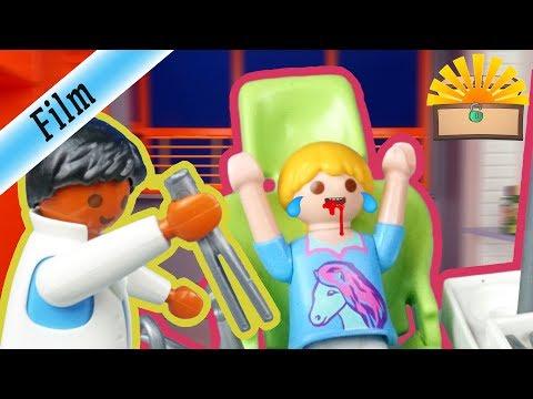 ZAHNARZT BESUCH ENDET BLUTIG - Playmobil Film deutsch - FAMILIE Bergmann 6