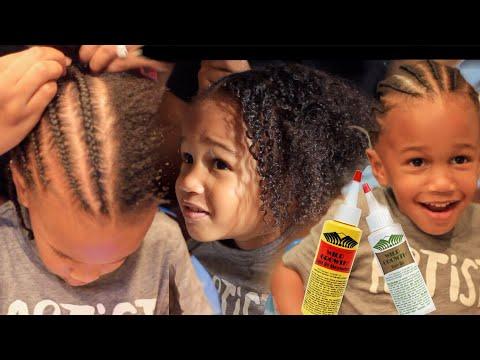 (BOYS) Toddler's Hair Regimen plus Protective Style