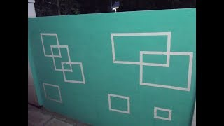 Basic Wall Designing - Square Within Square (step by step)