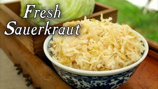 Making Fresh Sauerkraut