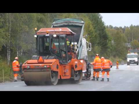 Vägarbete Road construction and Paving in north sweden