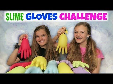 Slime Gloves Challenge ~ Jacy and Kacy