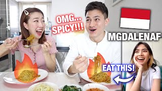 Download EATING WHATEVER MGDALENAF RECOMMENDS | Trending Indonesian Spicy Noodle???