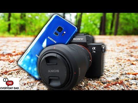 Sony A7iii Full Frame Mirrorless VS Samsung Galaxy S9!  Portable vs Professional!