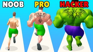 NOOB vs PRO vs HACKER in Muscle Rush