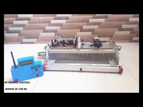 Universal  Semi-automated Solar Panel cleaning Robot India