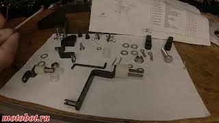 Установка комплекта дистанционного управления на мотор 9.9-15 л.с.