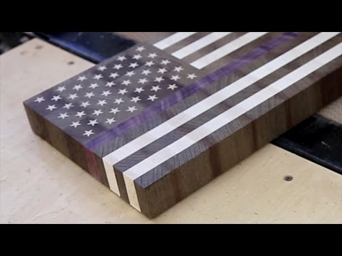 thin blue line end grain cutting board youtube. Black Bedroom Furniture Sets. Home Design Ideas