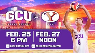 GCU Men's Volleyball vs BYU  |  Feb. 27, 2021