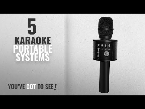 Top 10 Karaoke Portable Systems [2018]: BONAOK Wireless Bluetooth Karaoke Microphone,3-in-1 handheld
