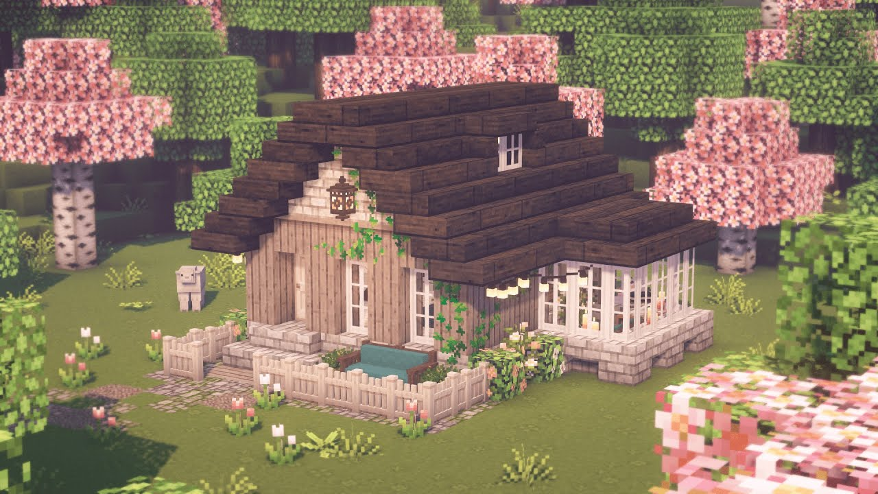 Aesthetic Minecraft Tiny House Relaxing Video Youtube