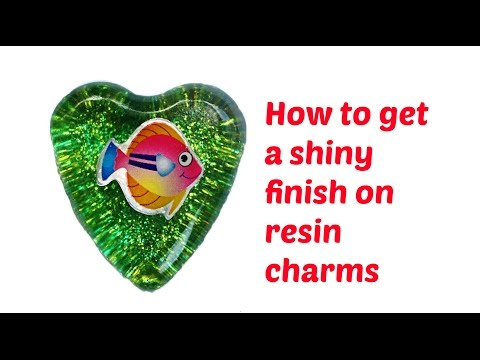 How to get a shiny finish on resin jewelry - YouTube