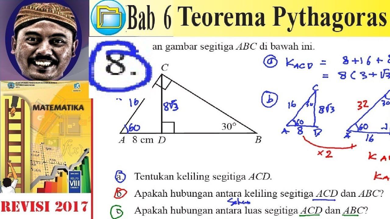 Teorema Pythagoras Matematika Kelas 8 Bse K13 Rev 2017 Luk 6 Esay No8 Hubungan Keliling 2 Segi Youtube
