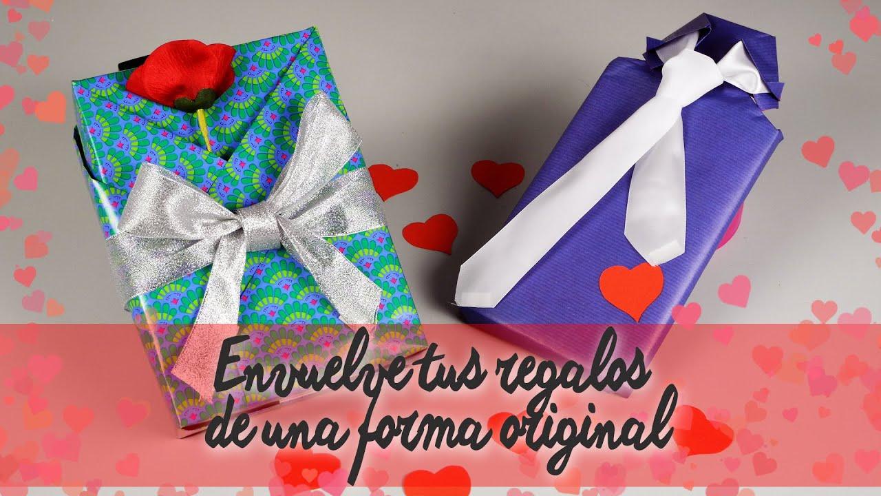 Envolver regalos de san valent n youtube - Envolver regalos de forma original ...