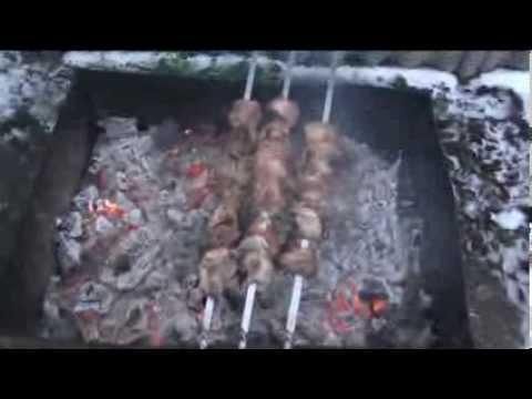 Шашлык.  Мясо замаринованное в майонезе. Специфика приготовления.