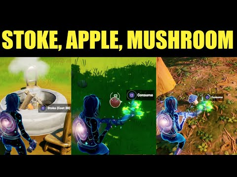 Stoke A Campfire, Consume Forged Apples, Consume Forged Mushrooms - (Fortnite) Location Guide