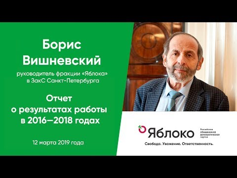 Отчёт Бориса Вишневского о результатах работы в 2016—2018 годах