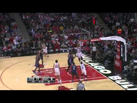 Nate Robinson Drive and Dish,Carlos Boozer Dunk | Bobcats ...