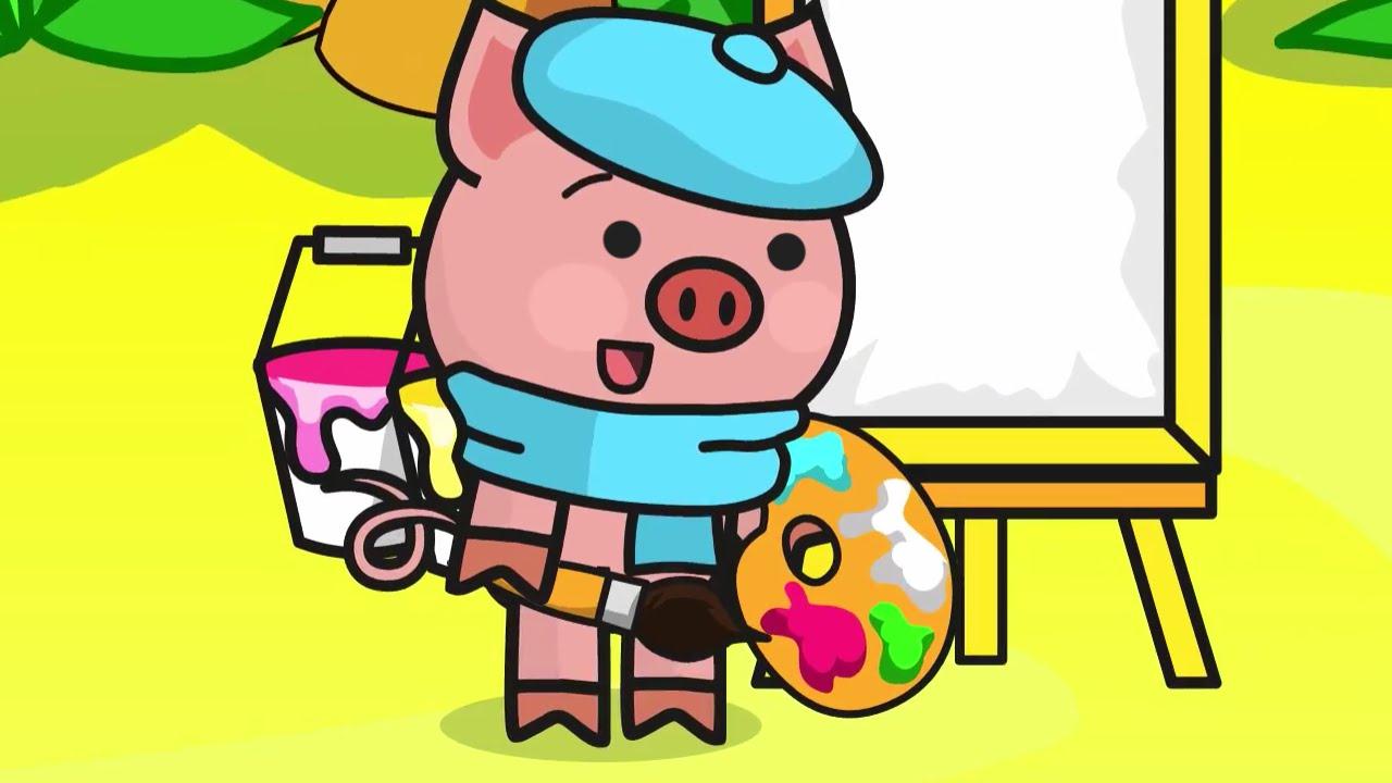 Cartoon for kids. Pig, Cat, Lemur & Panda. Treasure - musical instruments. Season 2. Episode 15