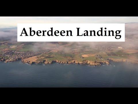 Landing At Aberdeen International Airport, Scotland (ABZ)