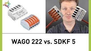 Verbindungsklemme: Vergleich Electro Terminal SDKF5 und WAGO 222 [watt24-Video Nr. 139]