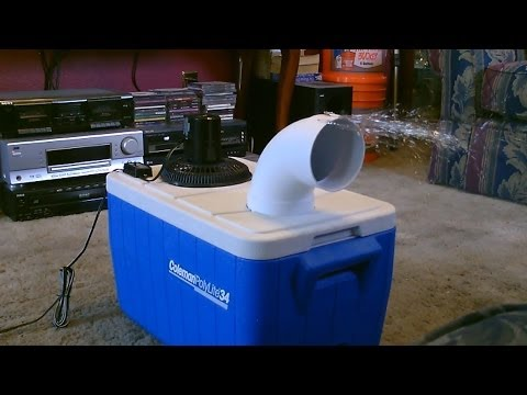 Homemade air conditioner DIY - Awesome Air Cooler! - EASY In