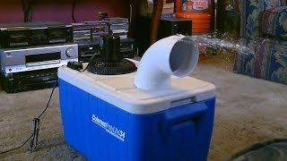 Homemade air conditioner DIY - Awesome Air Cooler! - EASY Instructions - can be solar powered! thumbnail