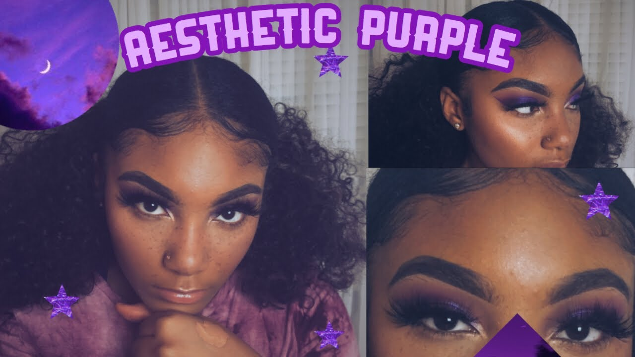 Grwm Purple Aesthetic Makeup On Brown Skin Madeinchyna Youtube Unique neon aesthetic posters designed and sold by artists. purple aesthetic makeup on brown skin