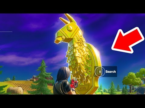 Search Midas' Golden Llama Between A Junk Yard, Gas Station, And An RV Campsite Fortnite