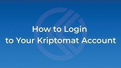 How to Login to Your Account | Kriptomat