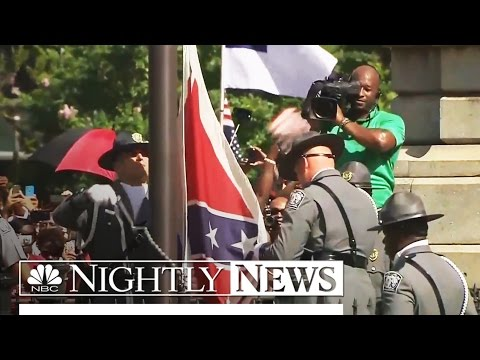 Confederate Flag Removed From South Carolina's Statehouse Grounds   NBC Nightly News
