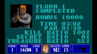 Wolfenstein 3D (PC) (Mini gameplay)