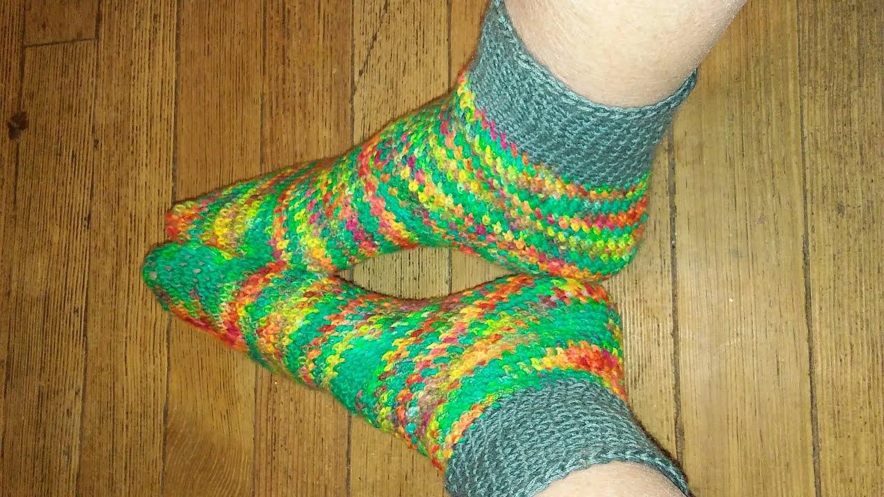 Crochet Socks Made From Stashed Sock Yarn Size F Crochet Hook