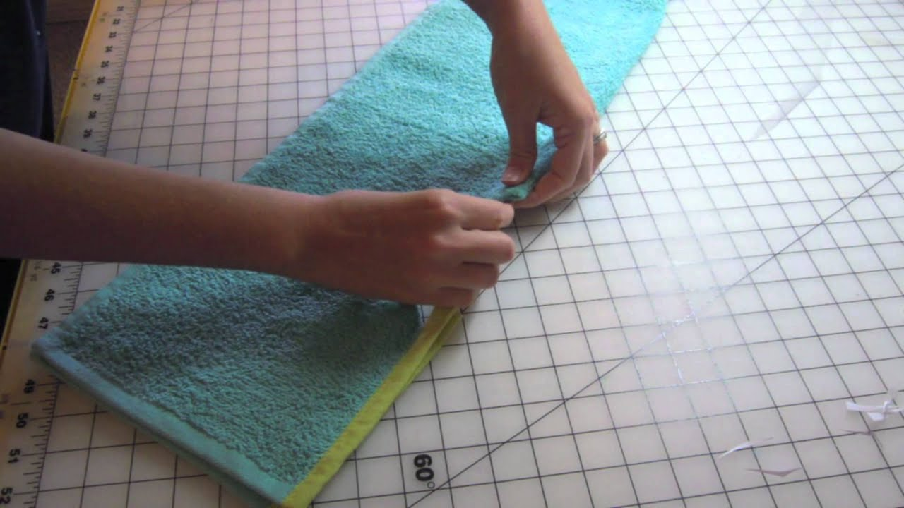 Target Hand Towel Bib Sewing Tutorial - YouTube