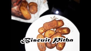 মজাদার বিস্কুট পিঠা || Biscuit Pitha Recipe || How to make Biscuit Pitha || Pitha Recipe In Bangla