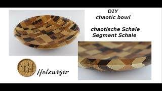 chaotische Schale - Segment Schale - chaotic bowl - DIY - Helmchen