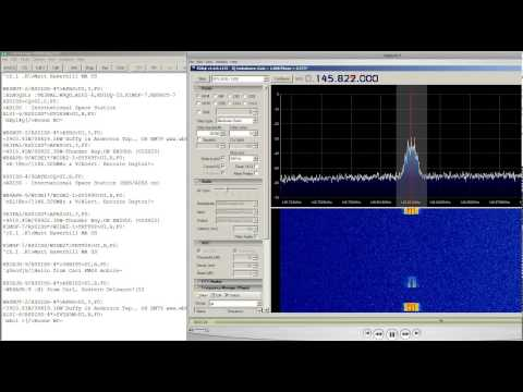 RTL SDR International Space Station Packet Repeater 145.825 Mhz