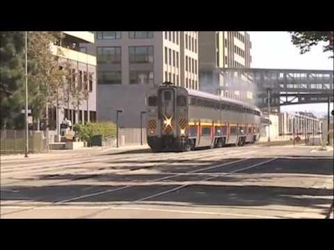 Amtrak Trains in Oakland Jack London Square