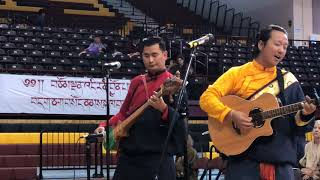 HH Sakya Trichen Rinpoche Cultural Exchange Santa Fe Indian School - Tibetan Honor Song Clip 3