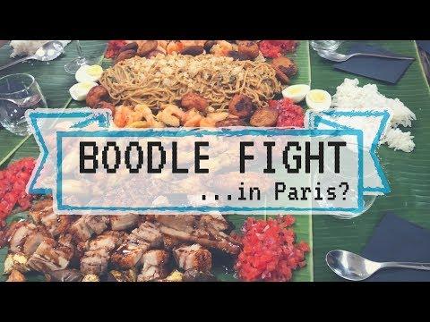 Filipino boodle fight... IN PARIS?!