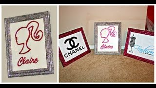 Diy:glitz And Glam Fashion Frames Home Decor