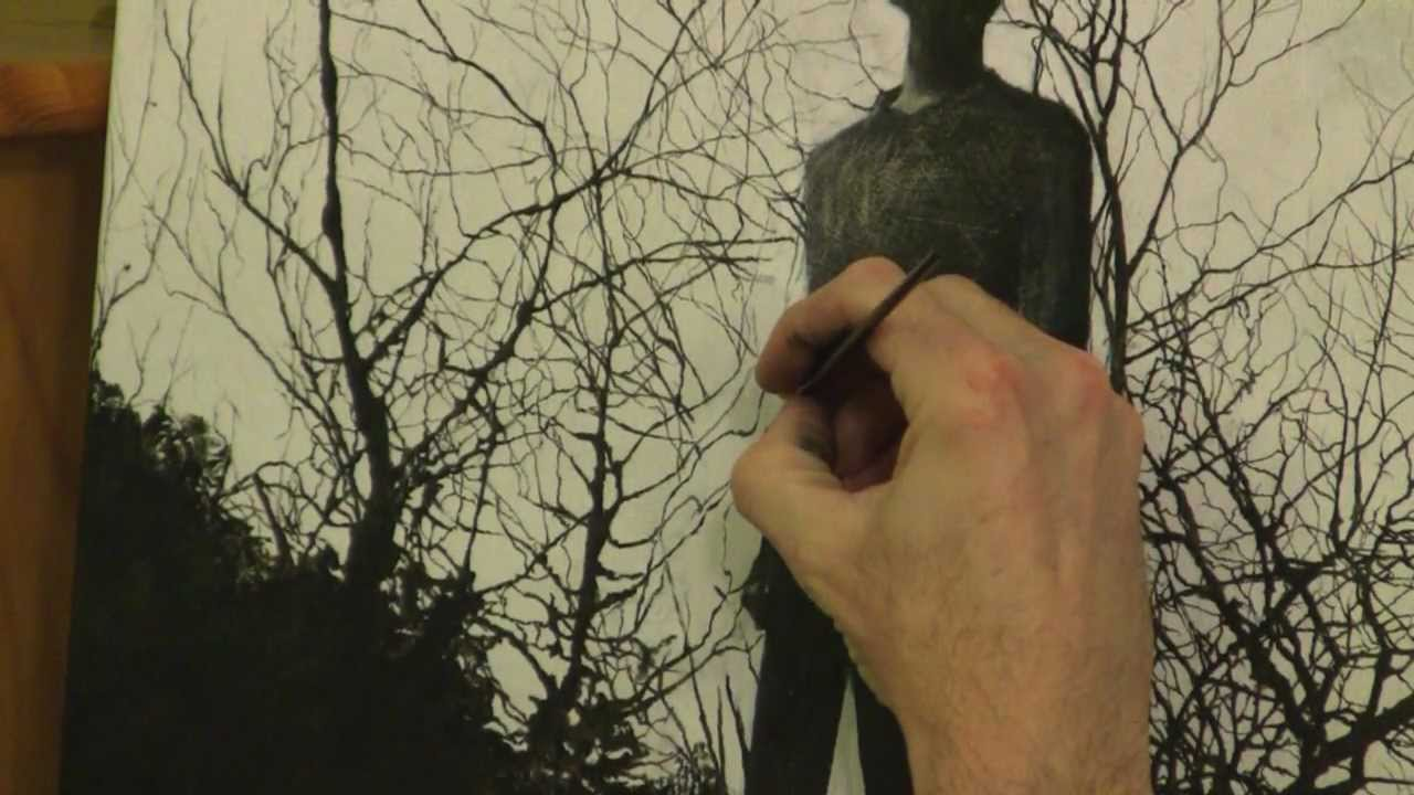 How To Paint Fine Lines In Oils