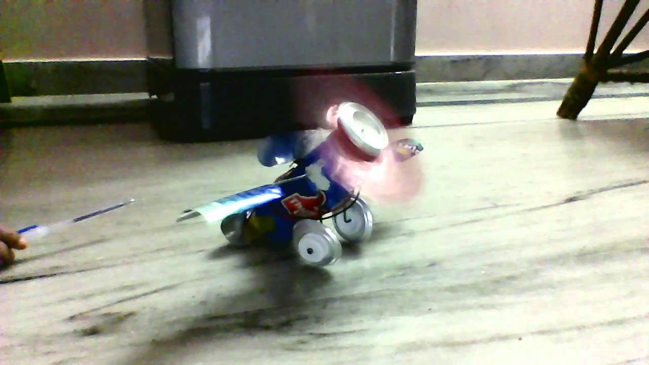 How to make aeroplane using coke tin and simple dc motor for How to create a motor