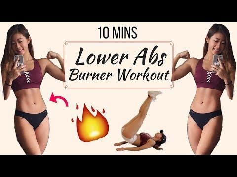 10 min Intense Lower Ab Workout BURN BELLY FAT No Equipment | 10分鐘人魚線高強度下腹訓練 | 燃燒腹部脂肪