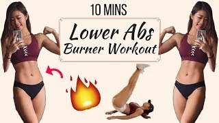 10 min Intense Lower Ab Workout BURN BELLY FAT No Equipment