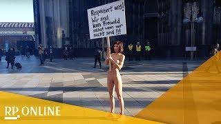 Köln: Nackter Protest nach Übergriffen auf Frauen